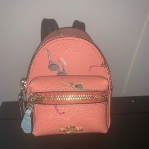 NWT Coach Backpack Keychain
